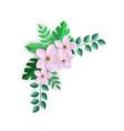 corner floral composition vector image vector image