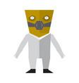 cute halloween maniac cartoon character vector image vector image