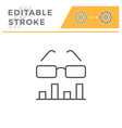 data analytics editable stroke line icon vector image vector image