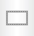 decorative frame background black border vector image