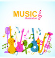 decorative musical abstract background vector image vector image