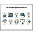 design development icons flat pack vector image vector image