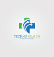 digital health icon template logo technology for vector image vector image