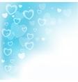 dream hearts blue background vector image vector image