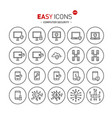 easy icons 43b computer security vector image vector image