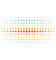filled rhombus spectral halftone array vector image vector image