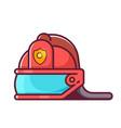 fireman helmet icon vector image vector image