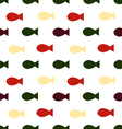 fish seamless patternskeleton of fish vector image vector image