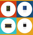 flat icon technology set of receiver receptacle vector image vector image