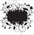 floral black vector image vector image
