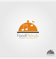 food melody - happy music restaurant logo vector image vector image