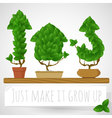 Green growing concept vector image vector image