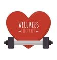 healthy heart cardio icon vector image