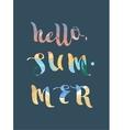 Hello summer super colorful design vector image vector image