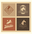 horse ride club vintage emblem set vector image