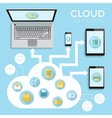 infographics device cloud vector image vector image