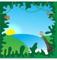 Jungle border vector image vector image
