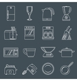 Kitchen appliances icons outline vector image vector image