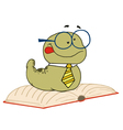 Knowledgeable Old Worm vector image