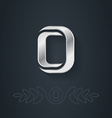 Letter O Template for company logo with monogram vector image
