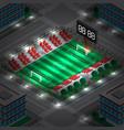 lighting city stadium vector image vector image