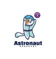 logo astronaut simple mascot style vector image
