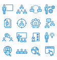management consulting flat line icon set vector image vector image