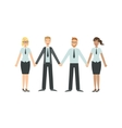 Managers Holding Hands Teamwork vector image