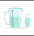 measuring cup and glass kitchenware vector image vector image