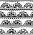 Mehndi Indian Henna tattoo seamless pattern desi vector image vector image