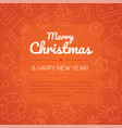merry christmas and happy new year social media vector image vector image