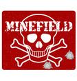 minefield vector image vector image