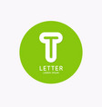 modern linear logo and sign letter t vector image