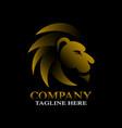modern lion logo vector image vector image