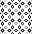 Monochrome seamless star pattern design vector image vector image