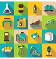 Oil industry icons set flat style vector image vector image