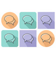 outlined icon of two blank speech bubbles vector image