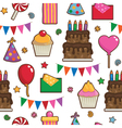party pattern vector image vector image