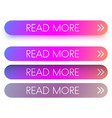 pink spectrum read more web buttons isolated on vector image vector image