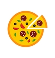 Pizza icon flat style vector image