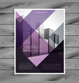 purple brochure design template for your brand vector image
