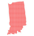 red dot map of indiana vector image