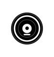 retro vinyl disk melody sound music silhouette vector image