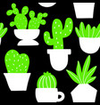 seamless background with indoor plants in vector image