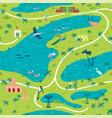 seamless pattern bharatpur bird sanctuary map vector image