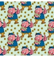 Seamless pattern pig with money vector image