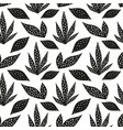 seamless pattern with stylized leaves hand drawing vector image vector image