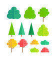 set of isolated trees vector image vector image