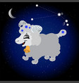 sign of the zodiac aries vector image