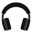 stereo headphones icon simple style vector image vector image